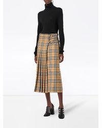 Burberry チェック プリーツスカート Multicolor