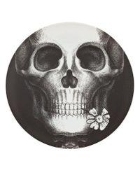 Assiette imprimée Fornasetti en coloris Black