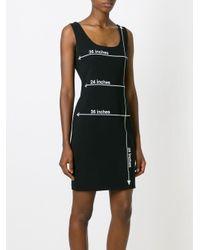 Moschino Black Measurements Print Dress
