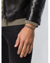 Bracelet texturé King Baby Studio pour homme en coloris Black
