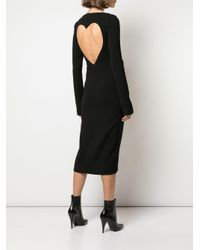 Rochas オープンバック ドレス Black