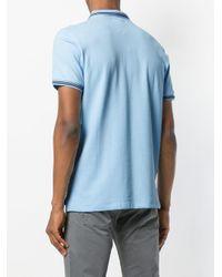 Emporio Armani - Blue Poloshirt mit Logo for Men - Lyst