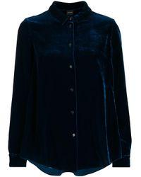 Camisa texturizada con botones Aspesi de color Blue