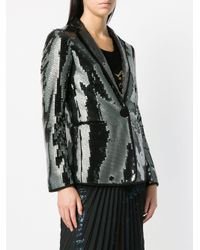 Marco De Vincenzo - Gray Sequinned Blazer - Lyst