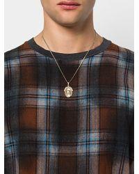 Alexander McQueen - Multicolor Halskette mit Totenkopf-Anhänger for Men - Lyst