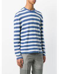 Ermanno Scervino Blue Striped Longsleeveled Jumper for men