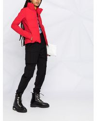 3 MONCLER GRENOBLE ジップアップ パデッドジャケット Red