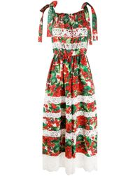 Dolce & Gabbana レースパネル ジャンプスーツ Green