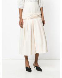 Falda midi larga Jacquemus de color Natural
