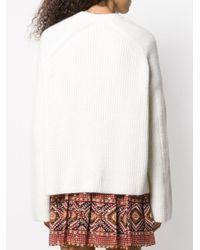 Pull en maille torsadée Laneus en coloris White