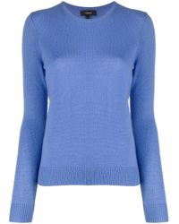 Theory Blue Crew Neck Knit Jumper