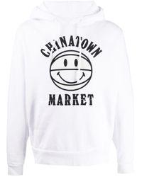 メンズ Chinatown Market Uv Smiley バスケットボール パーカー White