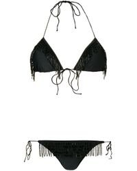 Oseree Black Bikini mit Pailletten