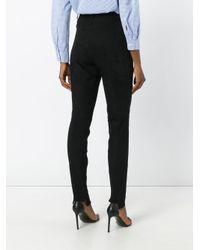Manokhi Black High Waisted Trousers