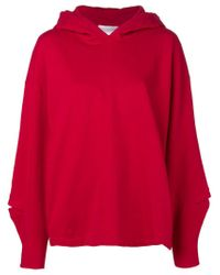Closed - Red Plain Hoodie - Lyst