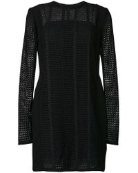 Victoria, Victoria Beckham - Black Panelled Shift Dress - Lyst
