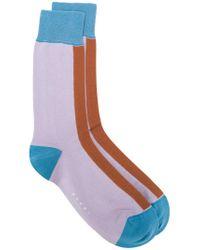 Marni - Purple Colour Blocked Socks for Men - Lyst