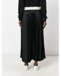 Off-White c/o Virgil Abloh Black Long Pleated Skirt