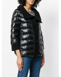 Herno Black Buttoned Puffer Jacket