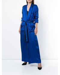 Haider Ackermann サテン ローブドレス Blue