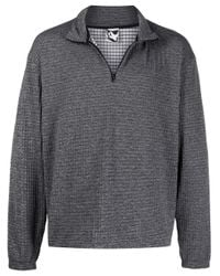 Pull en maille gaufrée GR10K pour homme en coloris Gray