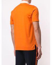 メンズ Kent & Curwen コントラストカラー ポロシャツ Orange