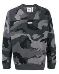 Adidas Gray R.y.v. Camouflage Sweatshirt for men