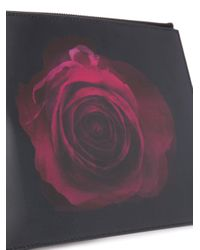 Christopher Kane Black Digital Print Zip Clutch