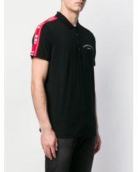 メンズ DIESEL ロゴストライプ ポロシャツ Black