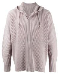 Sweat à capuche à design plissé Homme Plissé Issey Miyake pour homme en coloris Pink