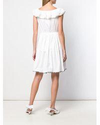 Miu Miu オフショルダー ドレス White