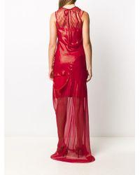 Длинное Платье С Прозрачной Вставкой Ann Demeulemeester, цвет: Red