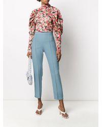 Pantaloni crop di HEBE STUDIO in Blue