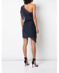 Robe bustier courte à design superposé Cushnie en coloris Blue
