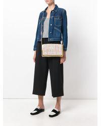 Casadei Metallic Tweed Clutch Bag