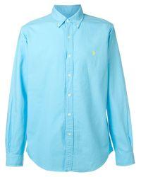 Ralph Lauren Blue Logo Shirt for men