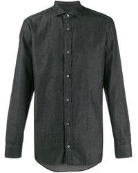 Camicia taglio regular di Z Zegna in Black da Uomo