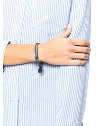 Bottega Veneta - Blue Intrecciato Leather Bracelet - Lyst