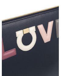 Ferragamo - Blue Love Clutch Bag - Lyst