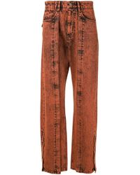 Wooyoungmi Orange Faded Wash Jeans for men