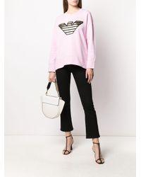 Emporio Armani ロゴ スウェットシャツ Pink