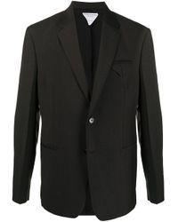 Однобортный Пиджак С Карманами Bottega Veneta для него, цвет: Brown