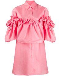 MM6 by Maison Martin Margiela ラッフル レイヤード シャツドレス Pink