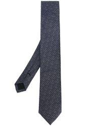Cravate à motif géométrique Versace pour homme en coloris Blue