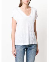 Majestic Filatures White Knit V-neck Top