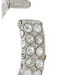 Magda Butrym | Metallic Medium Embellished Hoop Earrings | Lyst