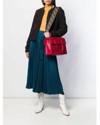 Bolso de hombro con correa con motivo del logo Fendi de color Red