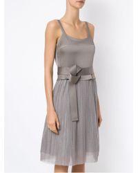 Gloria Coelho Gray Pleated Gown