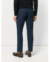 Fendi Blue Classic Tailored Trousers for men