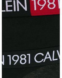 Bragas con logo Calvin Klein de color Black